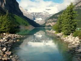 Lake Louise Wallpaper Landscape Nature