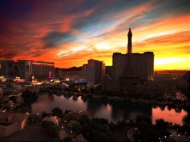 Las Vegas sunrise Wallpaper United States World