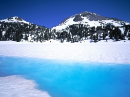 Lassen Peak Wallpaper Winter Nature