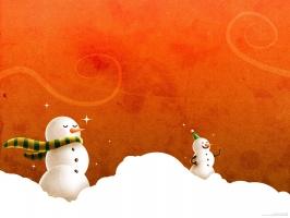 Laughing Christmas Snowmen