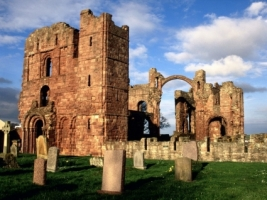Lindisfarne Priory Wallpaper England World