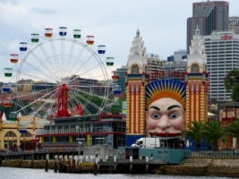 Luna Park Wallpaper Australia World