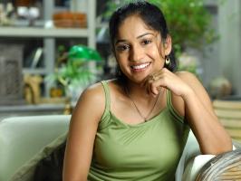 Madhavi Latha in Green