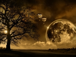 Magic Moon Wallpaper Abstract 3D