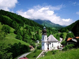 Maria Gern Church Wallpaper Germany World