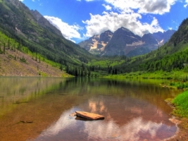Maroon Lake Wallpaper Landscape Nature
