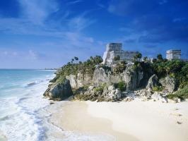 Mayan Ruins Mexico Beach