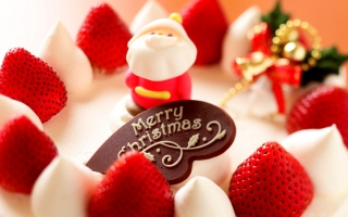Merry Christmas Strawberry  Dessert