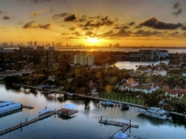 Miami sunset Wallpaper United States World