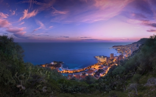 Monaco Purple Clouds Sunset