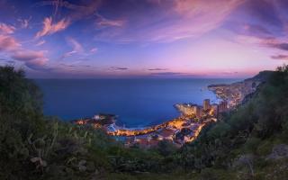 Monaco Purple Clouds Sunset