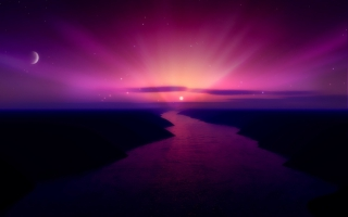 Morning Purple Sunrise