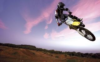 Motocross Bike in Sky