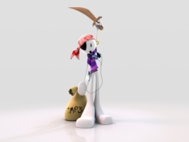 Music Pirate Wallpaper 3D Characters 3D