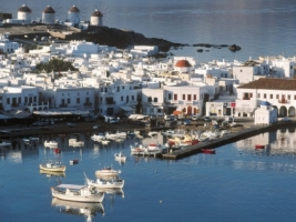 Mykonos Harbor Wallpaper Greece World
