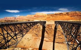 Navajo Bridge Over Colorado River