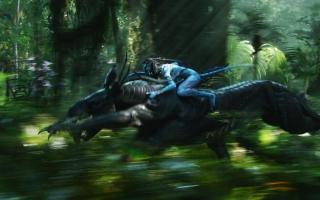 Navi Warrior on Thanator in Avatar