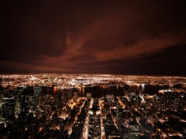 New York at night Wallpaper United States World