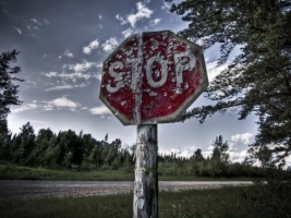 Old STOP Sign Wallpaper Other Nature