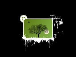 Olive tree Wallpaper Vector 3D