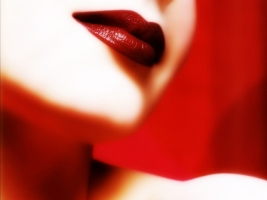 Perfect Lips Wallpaper Abstract 3D