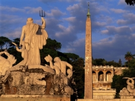 Piazza del Popolo Wallpaper Italy World