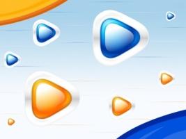 Play Buttons Wallpaper Abstract 3D