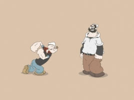 Popeye versus Pluto Wallpaper Cartoons Anime Animated