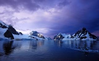 Purple Lemaire Channel Antarctica