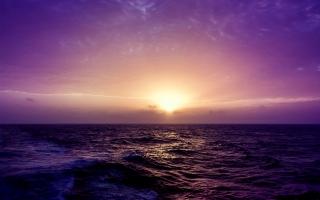 Purple Sea Sunset