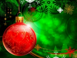 Red Christmas Ball Wallpaper Christmas Holidays