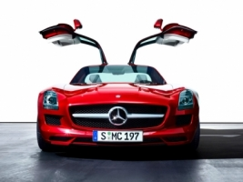 Red Mercedes SLS AMG Wallpaper Mercedes Cars