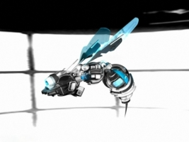 Robot Bee Wallpaper Abstract 3D