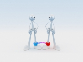 Robot Friends Wallpaper Abstract 3D