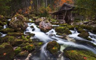 Rocks Waterfall Flow