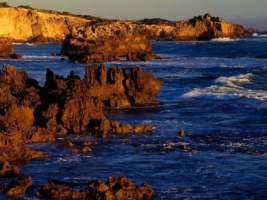 Rugged Coastline at Boozy Gully Wallpaper Australia World