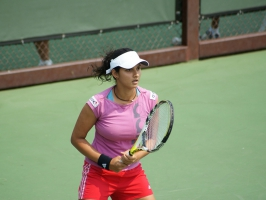 Sania Mirza Tight Pink Top