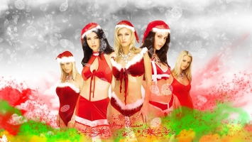 Santa Christmas Girls
