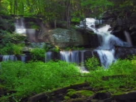Sawkill Falls Wallpaper Waterfalls Nature
