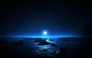Sea & Moon at Mid Night