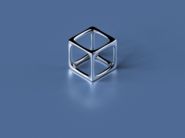 Simple 3D Cube Wallpaper Abstract 3D