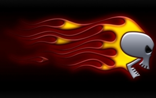 Skull On Fire Wallpaper Abstract 3D