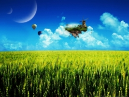 SkyLand Wallpaper Photo Manipulated Nature