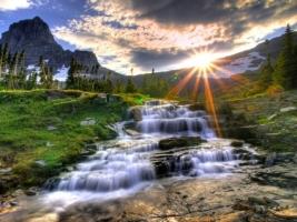 Small Waterfall HDR Wallpaper High Dynamic Range Nature