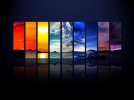 Spectrum of the Sky Wallpaper Photo Manipulated Nature