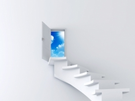 Stairway to Sky Wallpaper Abstract 3D