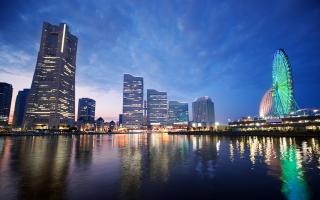 Sunset in Yokohama Japan