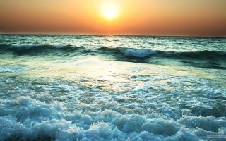 Sunset Near Sea