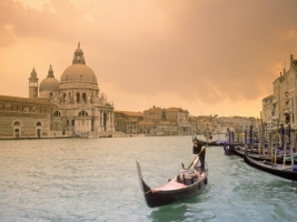 Sunset Over Grand Canal Wallpaper Italy World
