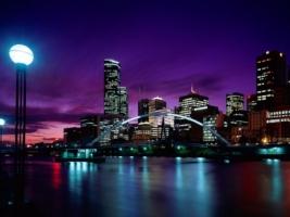 Sunset Over Melbourne Wallpaper Australia World